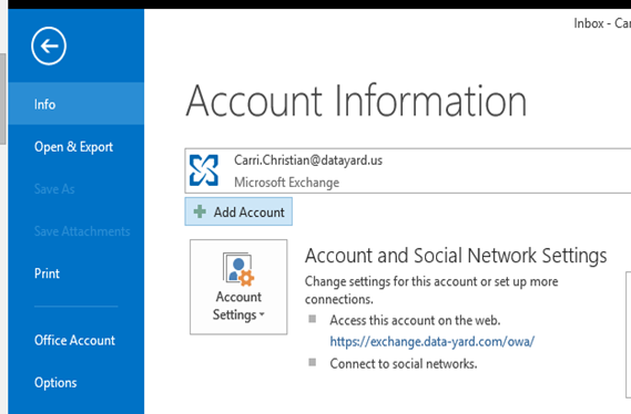 how to get outlook to connect to server