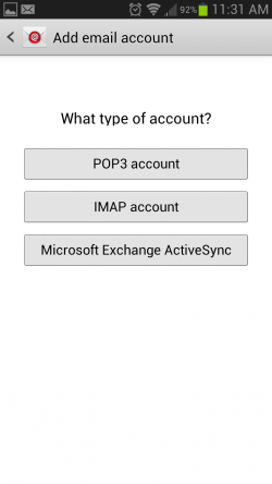 android account type